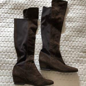 Nine West knee-high dark brown boots